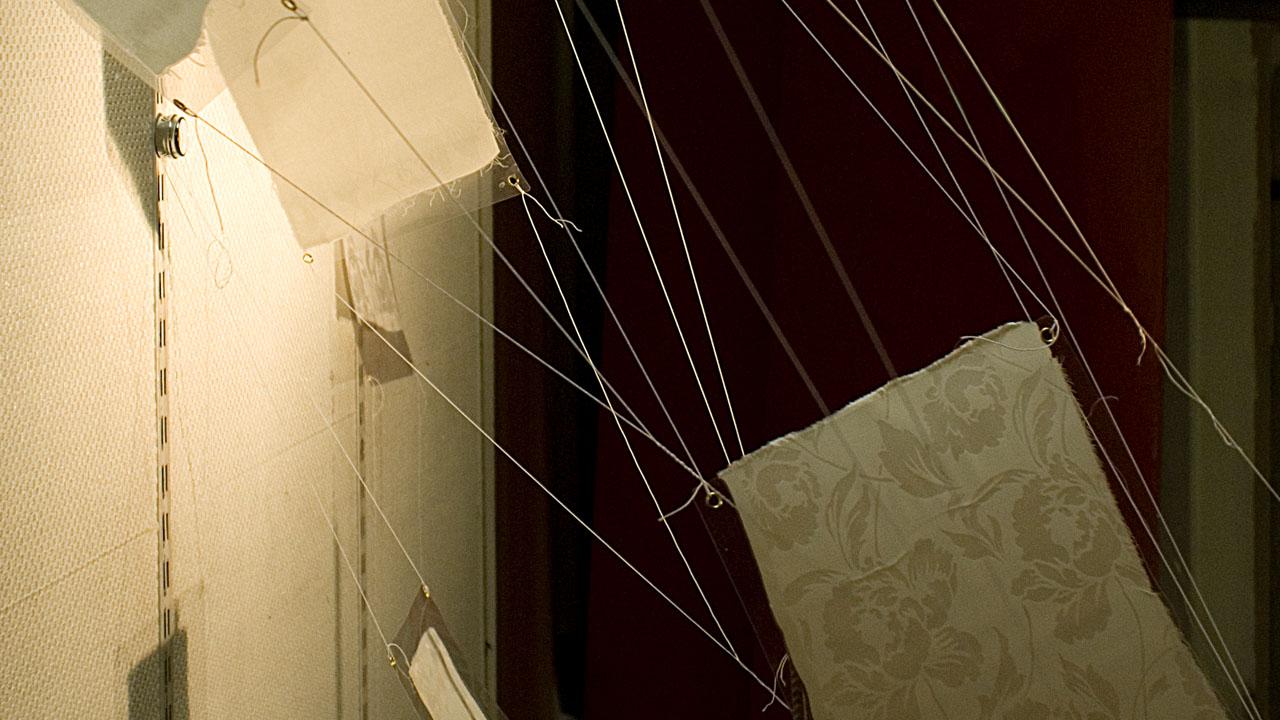 Damast laminiert, Kunstsalon Fürth, 2009