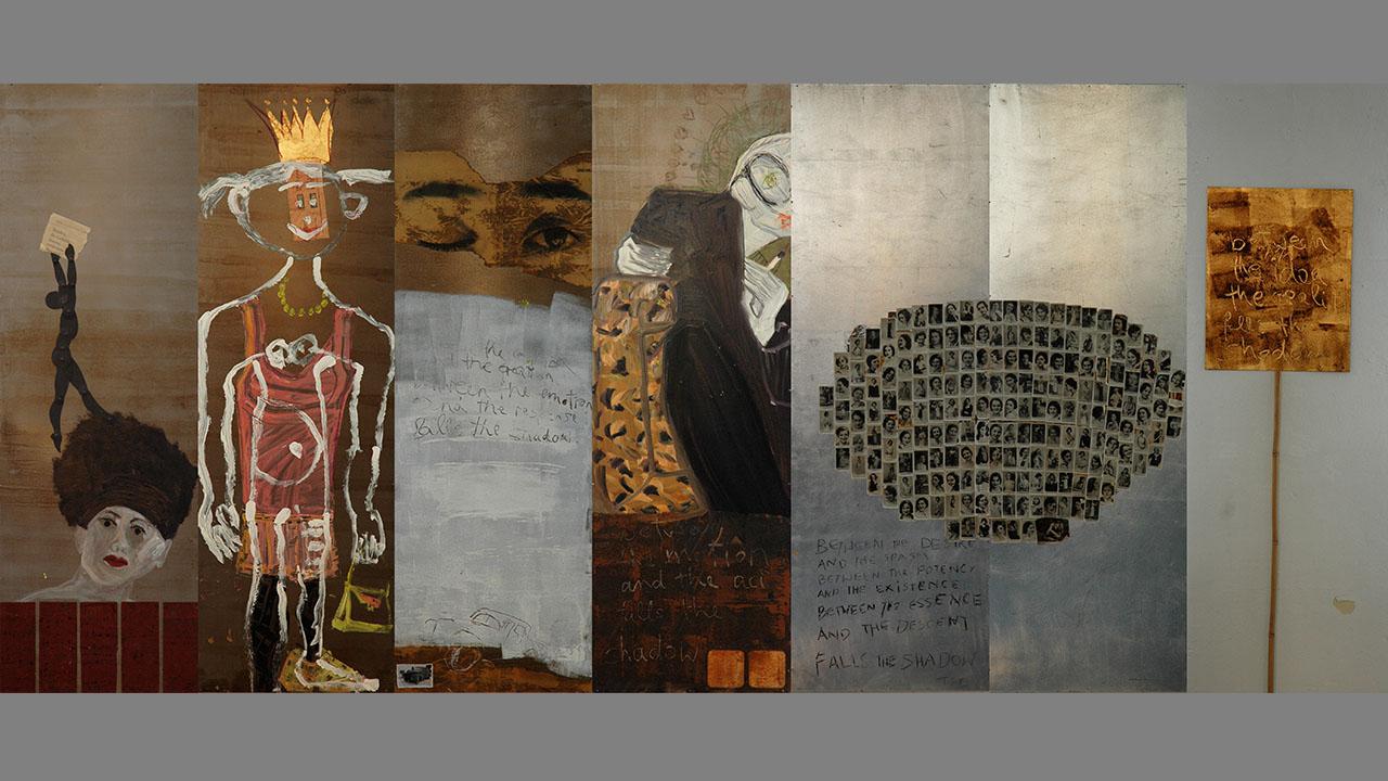 Ehe, 7-teilig, Acryl auf Metall, 2000